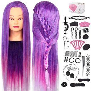 Mannequin Head with Hair, Beauty Star 29.5 Inch Training Head Hair
