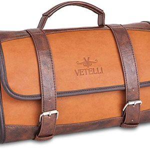 Vetelli Hanging Toiletry Bag for Men - Dopp Kit/Travel Accessories Bag