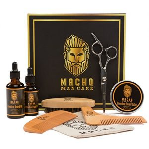 Premium Beard Grooming Kit - Beard Oil For Men, Beard Brush