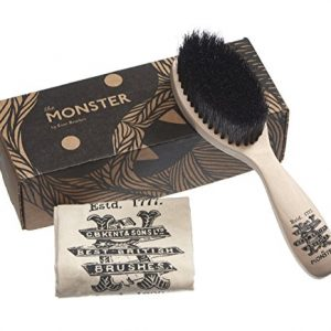 Kent BRD5 Monster Beard Brush - The Softest Men's Mustache and Beard Brush