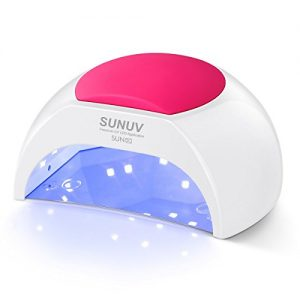 SUNUV SUN2C 48W LED UV nail Lamp with 4 Timer Setting