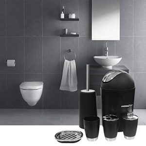 SANT LIFE 6 Piece Bathroom Accessories Set, Luxury Bath Sets Lotion Dispenser