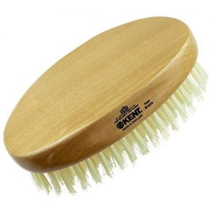 Kent BB Finest Men's Beard Brush - Beechwood Oval-Shaped Palm Grip