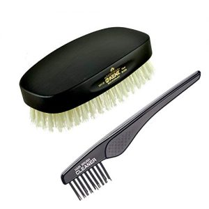 Kent Finest Men's MN1B Rectangular Military Pure White Bristle Hair Brush