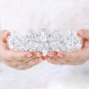 Aukmla Wedding Hair Accessories Bride Crowns Flower Queen