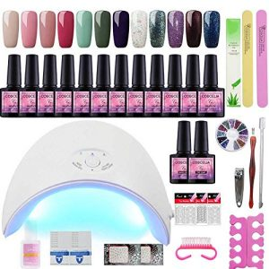 Fashion Zone Gel Nail Polish Starter Kit with 36W LED Nail Dryer Lamp