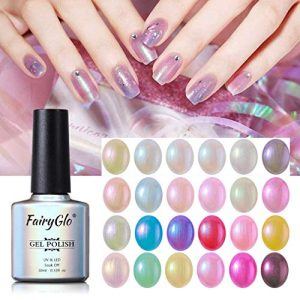 24PCS Pearl Nail Polish Set Mermaid Gel Manicure Salon Decor