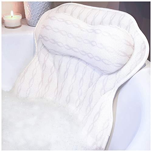 Luxury Bath Pillow Bathtub Pillow - Unique Neck Support Like No Other