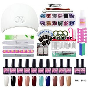 Saint-Acior Gel Nail Polish Starter Kit with 36W LED UV Nail Dryer Curing Lamp