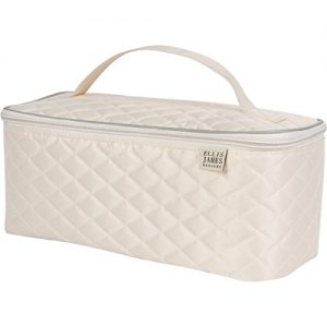 Ellis James Designs Large Travel Makeup Bag Organizer - Cosmetic Train Case
