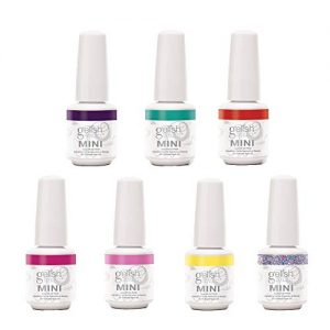 Gelish Mini 6 Color & 1 Glitter Overlay Gel Nail Polish