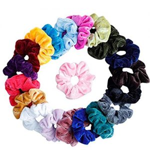 Cidere 20 Pcs Women Girls Velvet Elastic Scrunchies Ponytail Holder Hair Accessories
