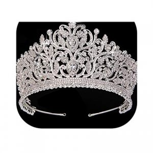 Crown Hair Jewelry Vintage Totem Big Tiaras And Crowns Aaa Luxury Rhinestone