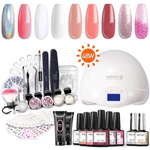 Modelones Gel Nail Polish Starter Kit with UV Light,48W UV/LED Lamp