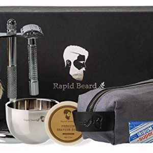 Shaving Kit for Men Wet Shave - Safety Razor with 10 blades