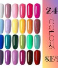 Vishine Gel Nail Polish 24 Colors Set Soak Off Gel Nail Polish Kit Nail