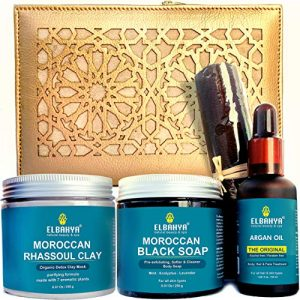 Luxury Skin Care Set - Moroccan Essential Hammam Kit, Bath and Body Home Spa