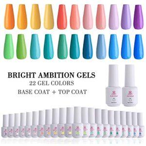 Makartt 24 Gel Nail Polish Sets UV LED Gel 8ml 22 Bright Ambition
