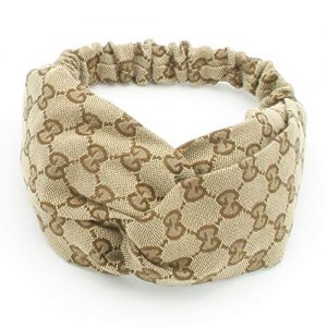 Designer Jacquard Weave Headbands for Women Fashionable Cross