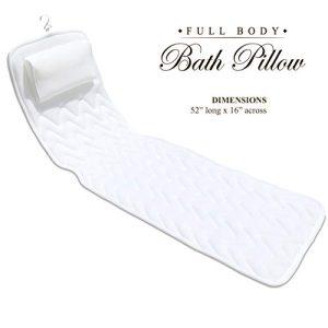 BathLife Full Body Bath Pillow Deluxe - Plush Quilted Bathtub Pillow