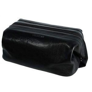 CrookhornDavis Men's Toiletry Bag, Travel Zipper Pouch
