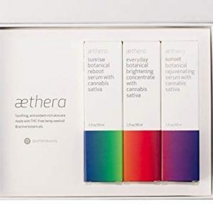 Aethera Beauty Self Care Skin Care Set with Cannabis Sativa Seed Oil