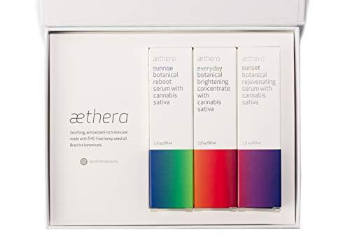 Aethera Beauty Self Care Skin Care Set with Cannabis Sativa Seed Oil