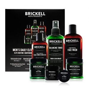 Brickell Men's Daily Elite Face Care Routine I, Toner, Gel Facial Wash