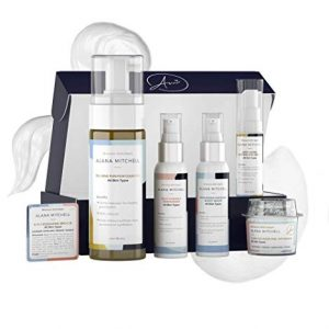 Anti Aging All Skin Types 7 piece Set with Eye Cream, Face Cleanser