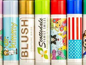 Custom Label Lip Balm (Quantity 100 Tubes) $0.49 Cents Each