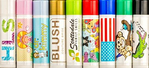 Custom Label Lip Balm (Quantity 100 Tubes) $0.49 Cents Each