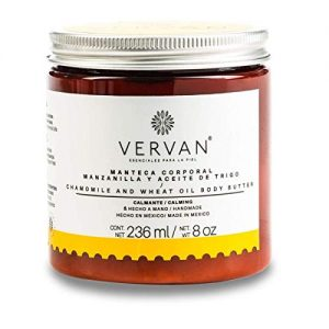 Vervan Sensitive Skin Body Butter Lotion, Natural Chamomile & Wheat Oil
