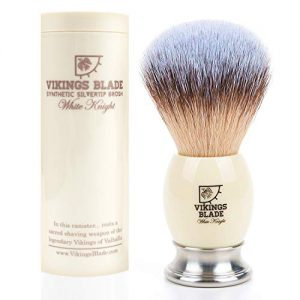 VIKINGS BLADE Luxury Shaving Brush, Heavy Weight Steel Base
