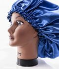 """(X-Large, ROYAL BLUE) New 24"""" Handmade Fully Reversible Luxuries Pure Satin"""