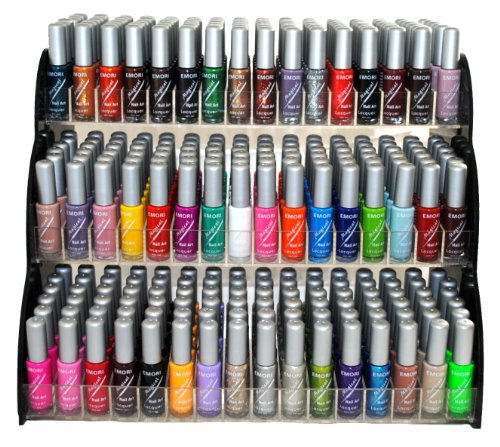 Emori (TM) All About Nail 50 Piece Color Nail Lacquer (Nail Art Brush Style)