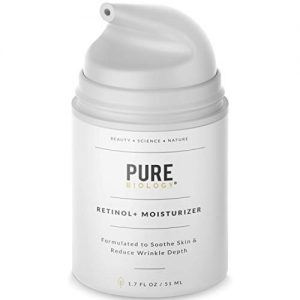 Pure Biology Premium Retinol Cream Face Moisturizer with Hyaluronic Acid