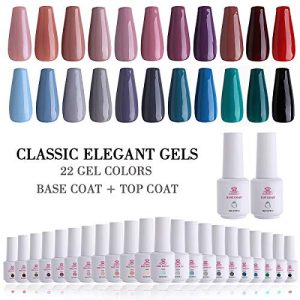 Makartt 24 Gel Nail Polish Sets UV LED Gel 8ml 22 Classic Elegant Color Gel