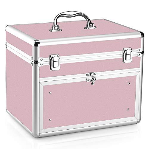 Makeup Case - Professional Portable Aluminum Cosmetic Storage Organizer