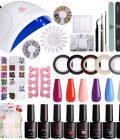 Makartt Gel Nail Polish Set with UV Light Gel Polish Kit 24 Lamp 6 Colors Gel