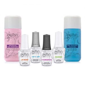 Gelish 15 mL Soak Off Gel Nail Polish Basix Care Kit