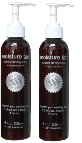 Moisture Tan Professional Self Tanner 8oz (2 Pack) - Voted #1 Self Tanner