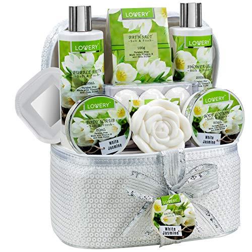 Bath and Body Gift Basket For Women & Men - 14 Piece Set