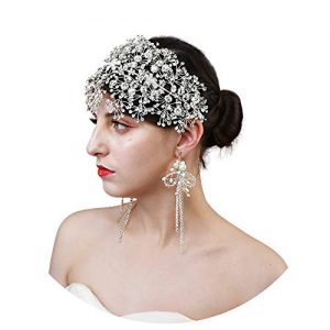 ULAPAN Crystal Bridal Headpiece Silver Wedding Headband for Brides