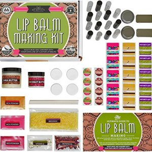 DELUXE Lip Balm Kit with Filling Tray, (73-Piece Set)
