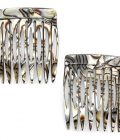 Camila Paris Handmade French Side Comb Small Rounded, Onix Finish
