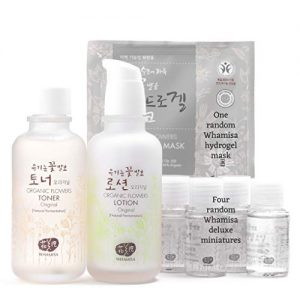 Whamisa Organic Flowers Original Toner & Original Lotion Skin Care Set