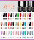 48pcs Solid Color 7ml Gel Nail Polish Kit Long-Lasting Gel Polish