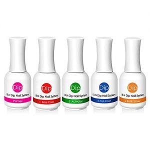 Nail Dipping Powder Liquid Set Starter Kit - Includes Primer