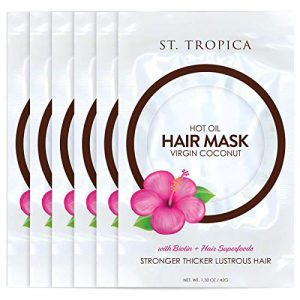 ST. TROPICA Coconut Oil Hair Mask (6 Hair Masks) #1 Ranked on Skin Deep