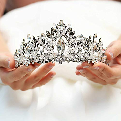 Yean Vintage Wedding Crowns and Tiaras Rhinestones Gold Bridal